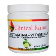 L-Glutamina + Vitamina C 300g Clinical Farma