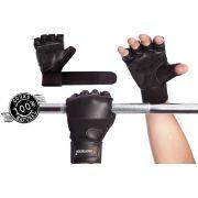 Par de Luvas Fitness Stronger Couro Prottector
