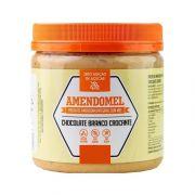 Pasta de Amendoim Integral Amendomel Chocolate Branco Crocante 500g Thiani