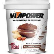 Pasta de Amendoim Vitapower Cacau Protein 1,005kg Mrs Taste