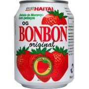 Suco de Morango c/ pedaços 235ml Bonbon Haitai