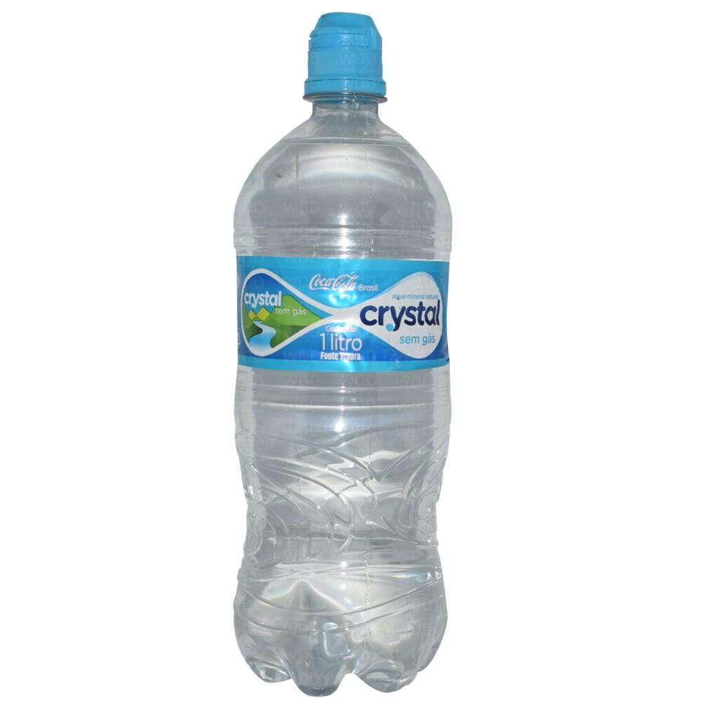 Água Mineral Natural sem Gás 1 litro Crystal