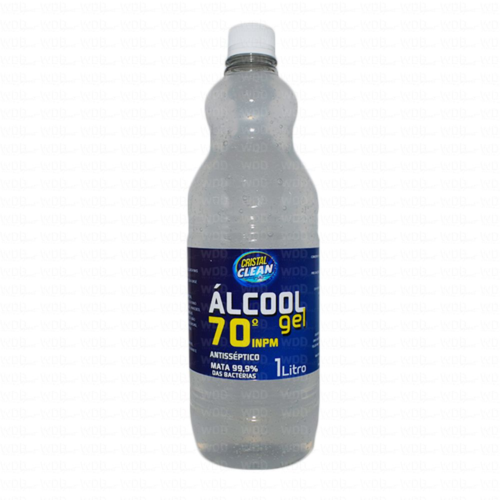 Álcool Em Gel 70º 1L Cristal Clean