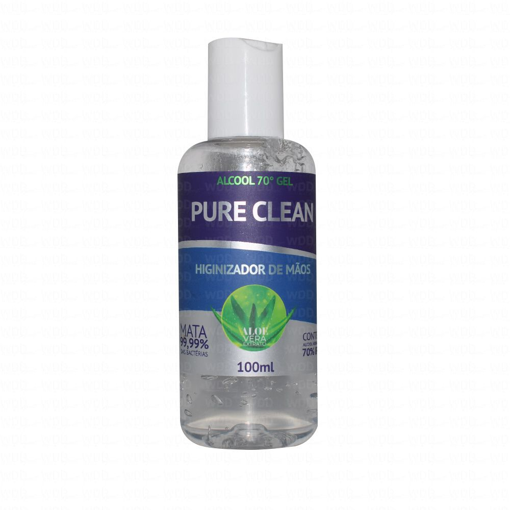 Álcool em Gel Higienizador de Mãos 100ml Pure Clean