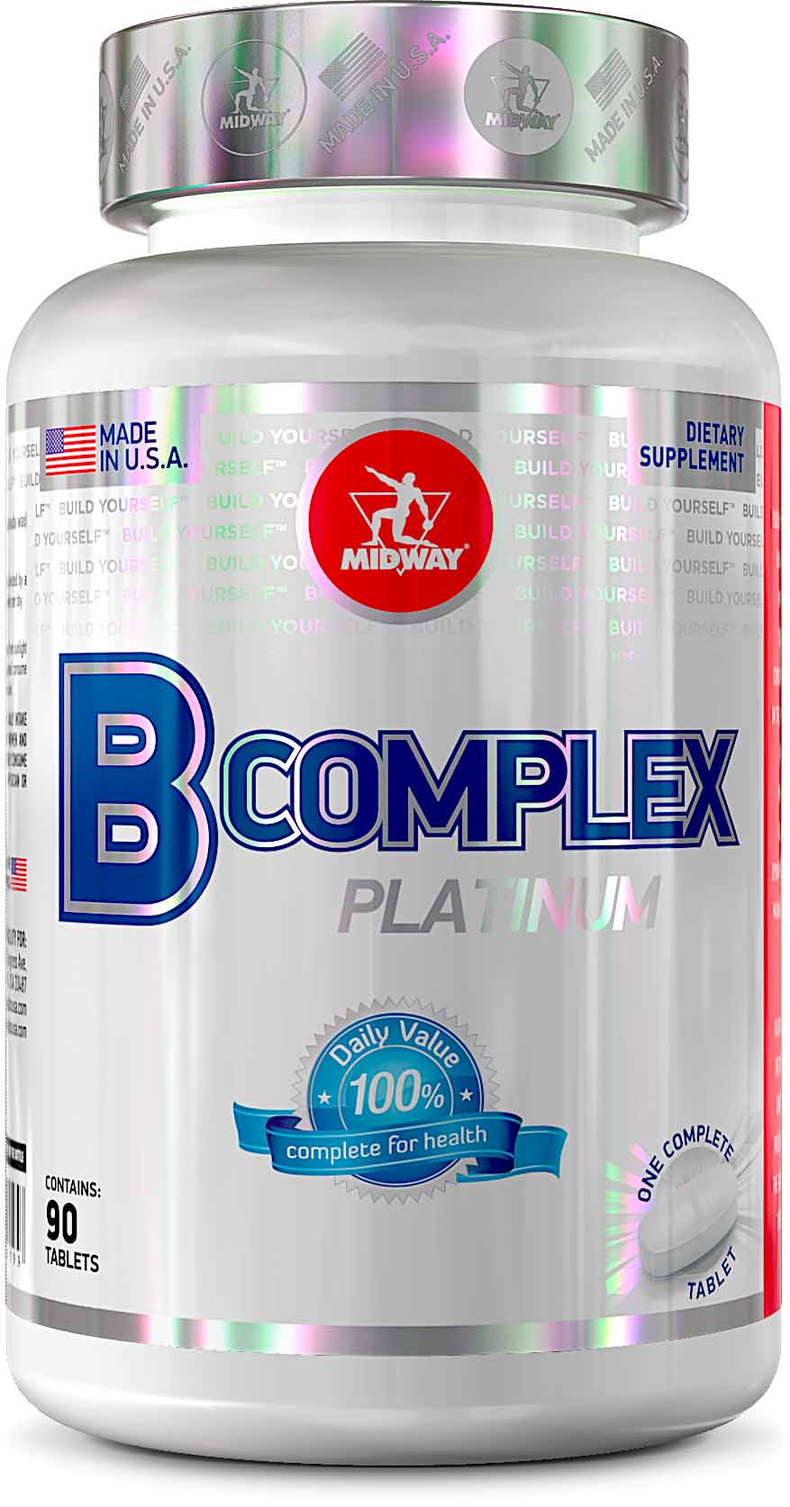 B Complex 90 tabs Midway