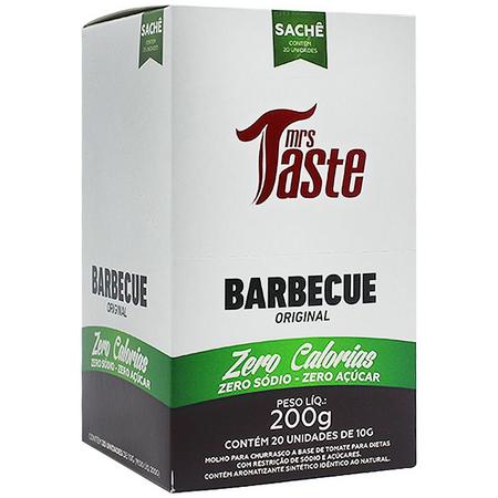Barbecue Original Zero Calorias Cx c/ 20 un de 10g Mrs Taste