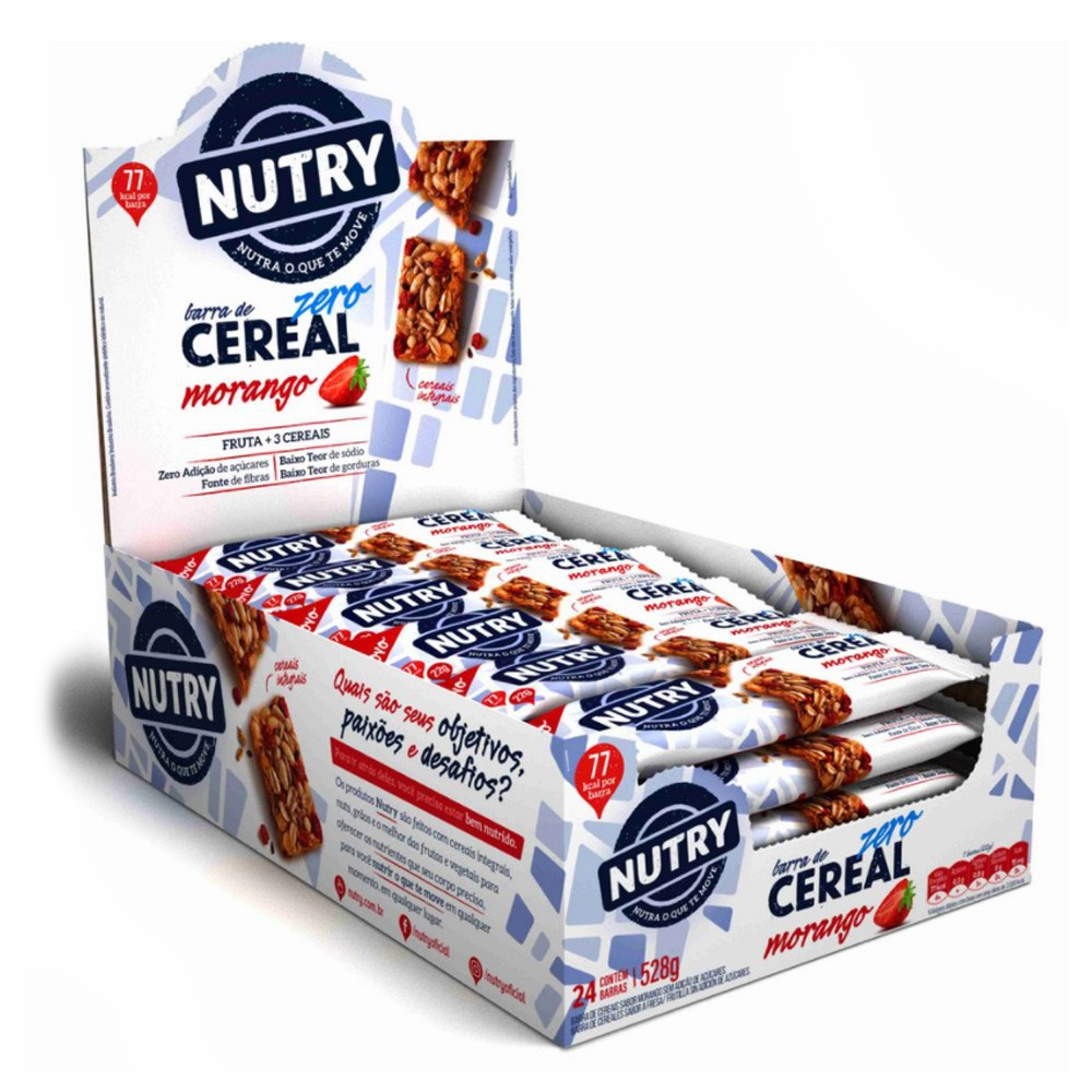 Barra de Cereal Zero Cx c/ 24 un de 22g Nutry