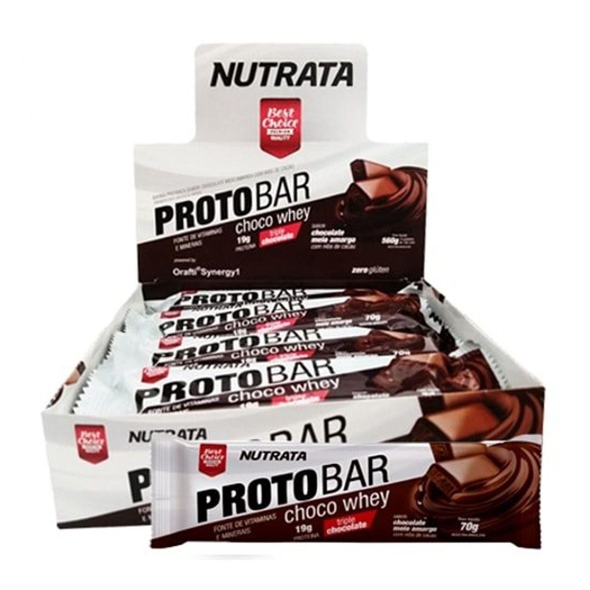 Proto Bar Cx. c/ 8 Barras 70g Nutrata