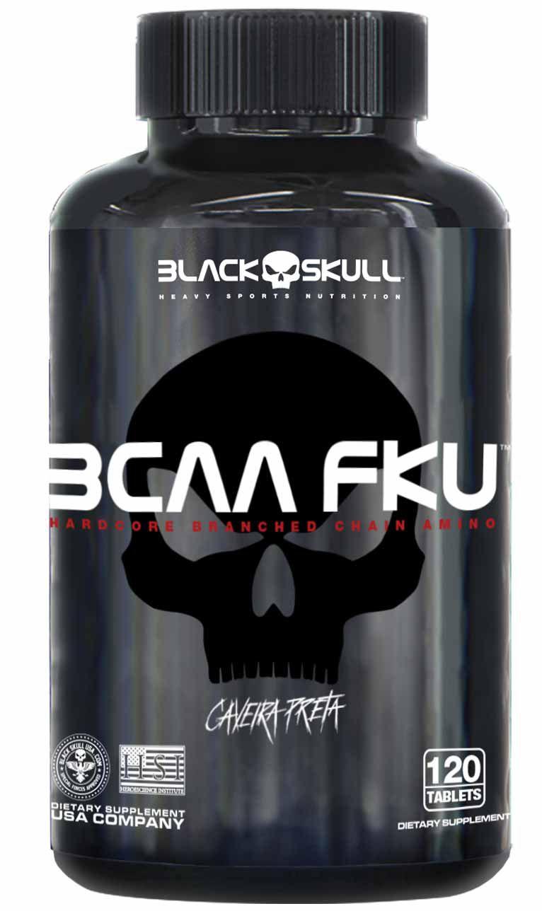 BCAA FKU Caveira Preta 120tabs Black Skull