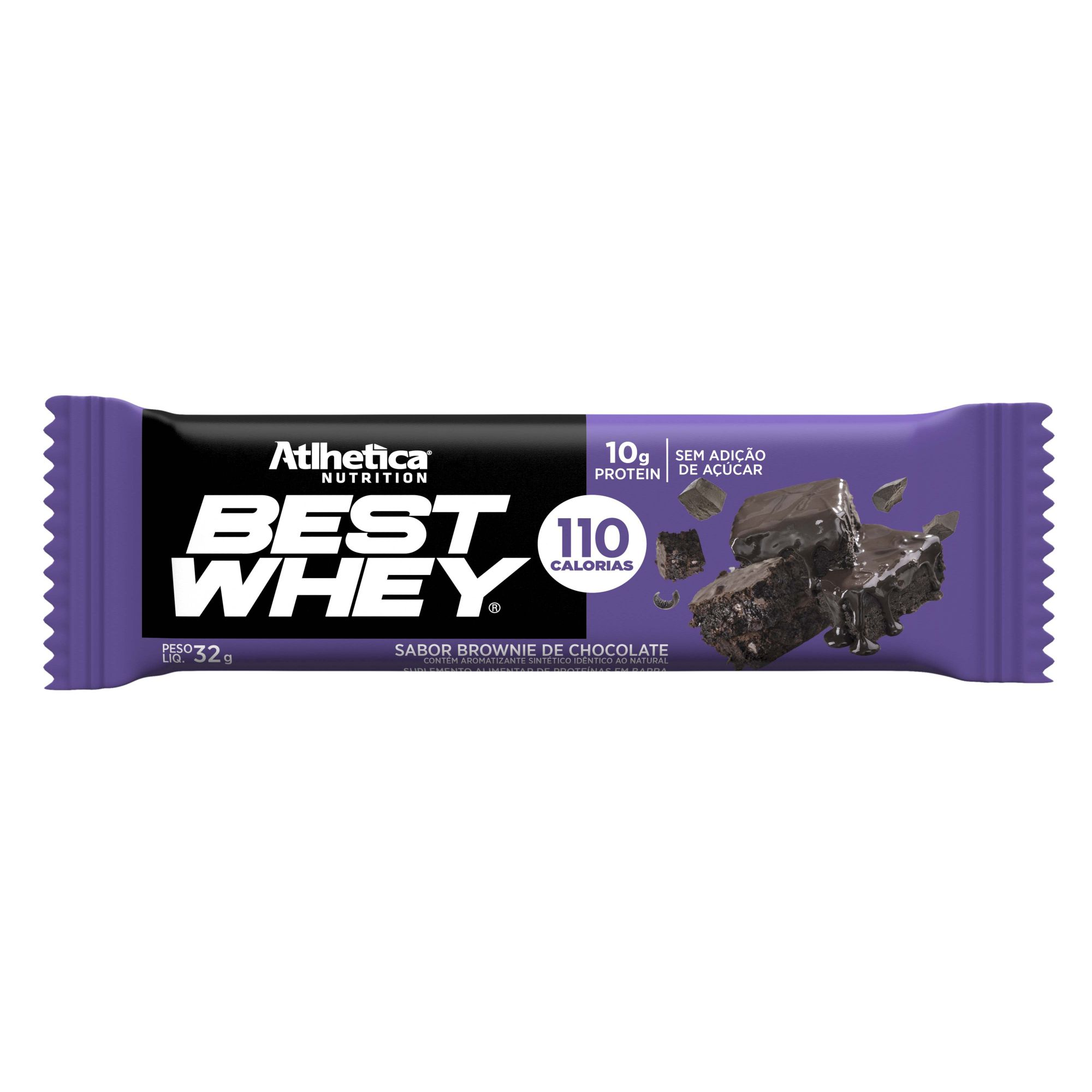 Best Whey Bar Brownie De Chocolate 1 Un de 32g Atlhetica