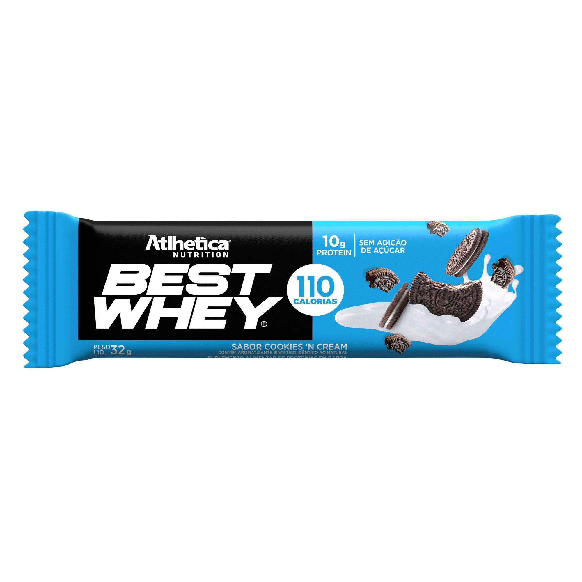 Best Whey Bar Cookies and Cream 1un de 32g Atlhetica