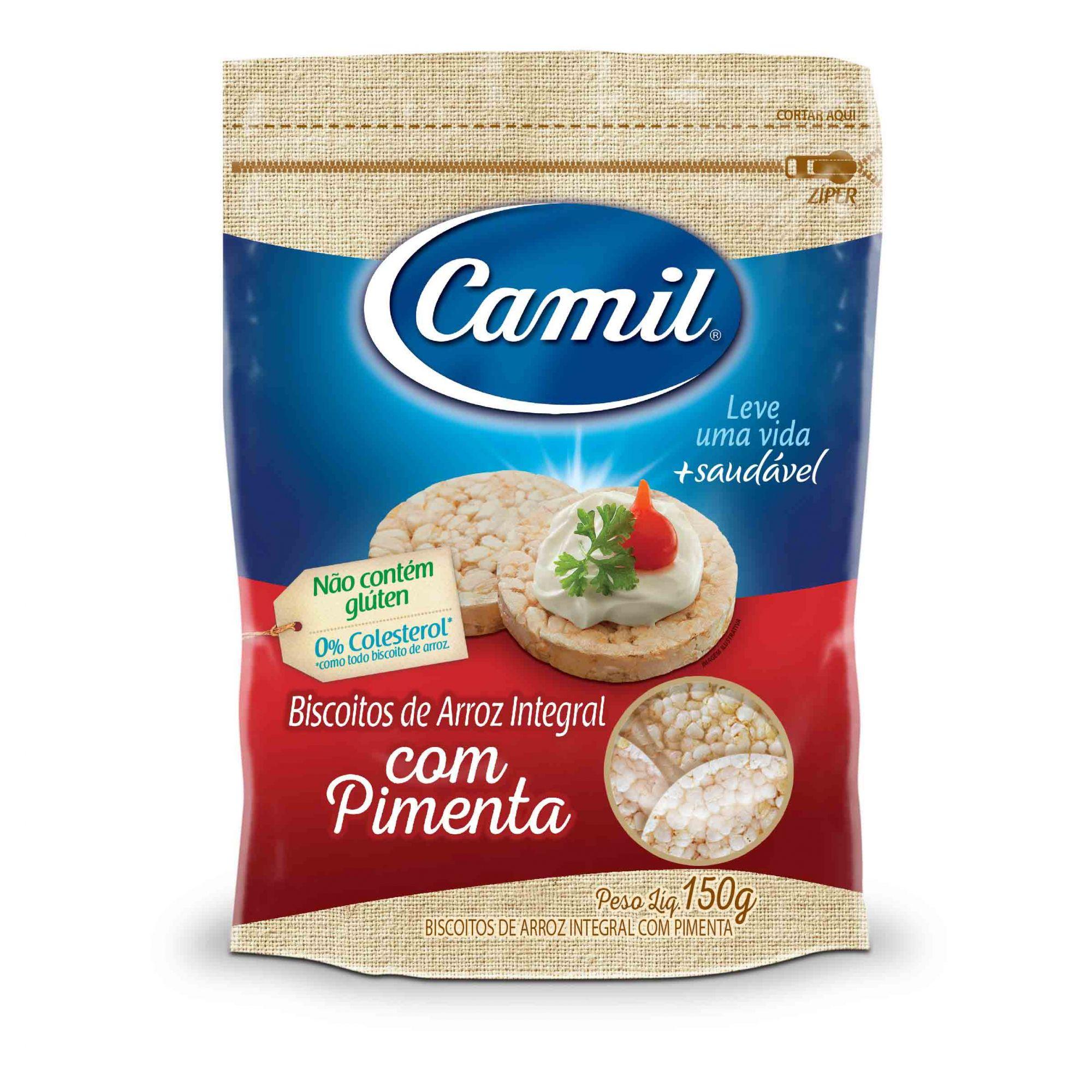 Biscoito de Arroz Integral 150g Camil