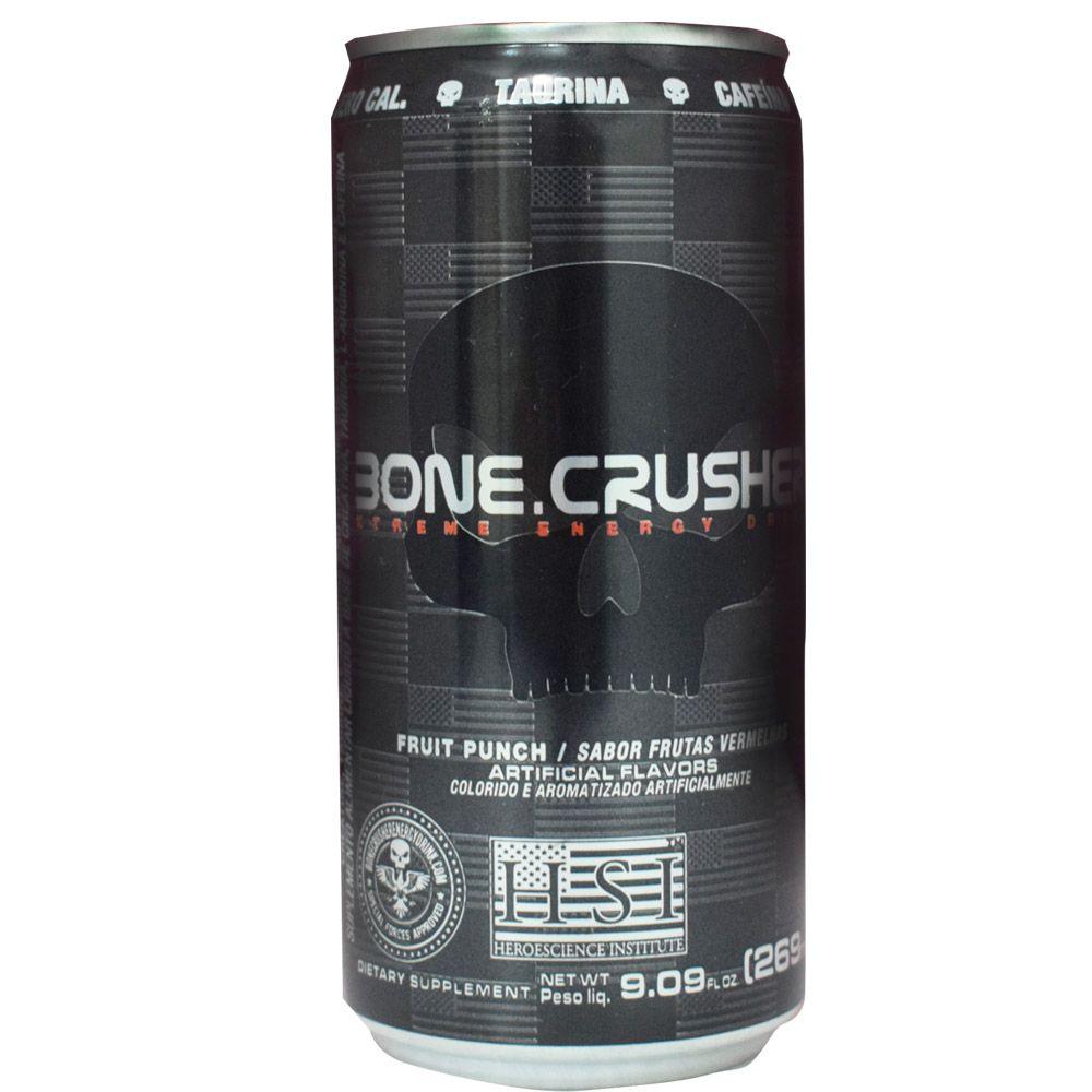 Bone Crusher Energy Drink 269ml Black Skull