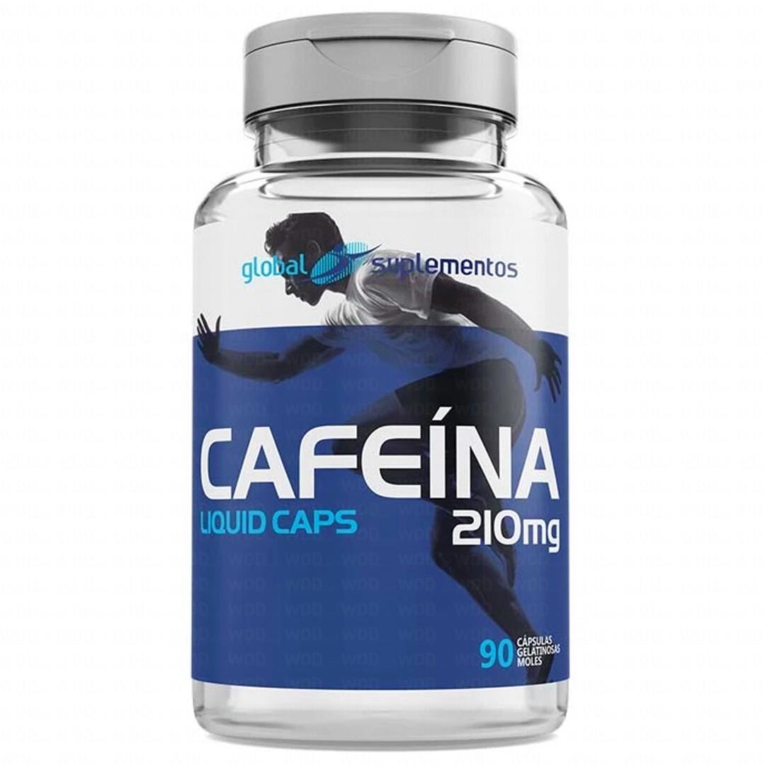 Cafeína 210mg 90 caps Global Suplementos