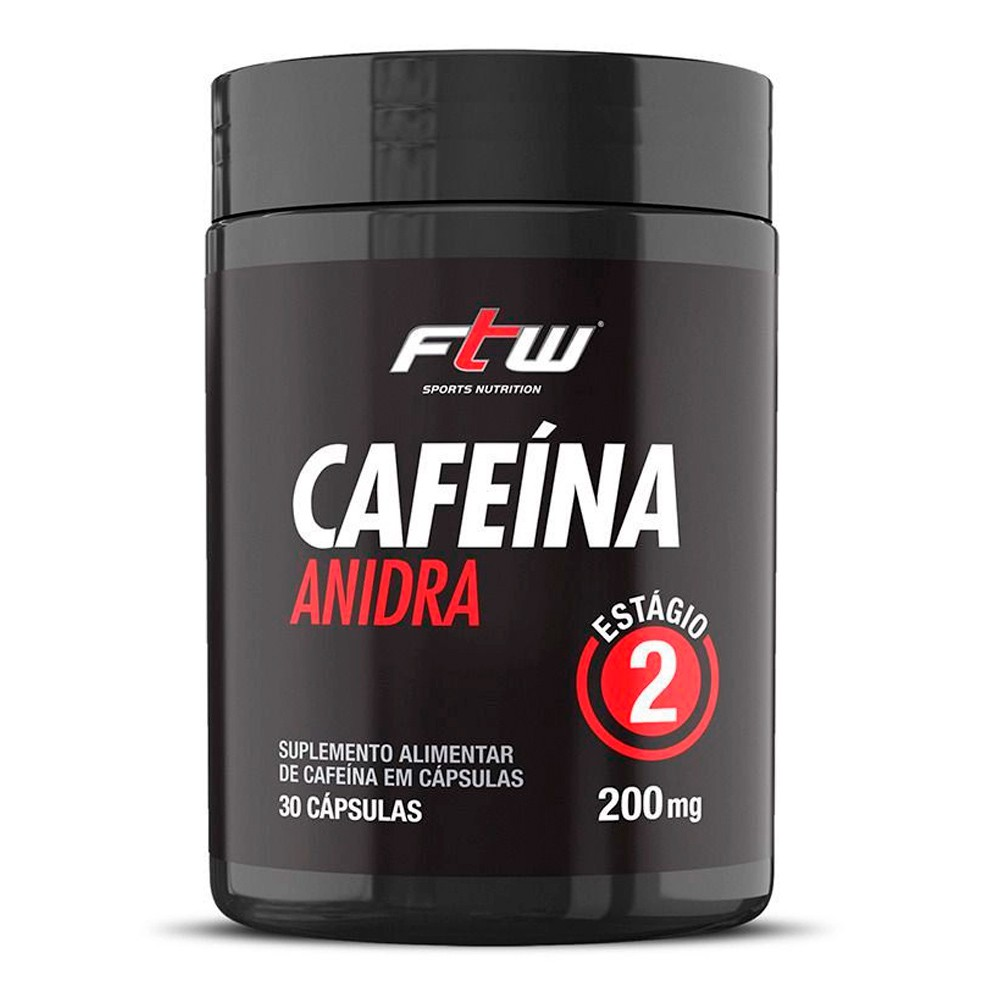 Cafeína Anidra 30 caps 200mg FTW Sports Nutrition