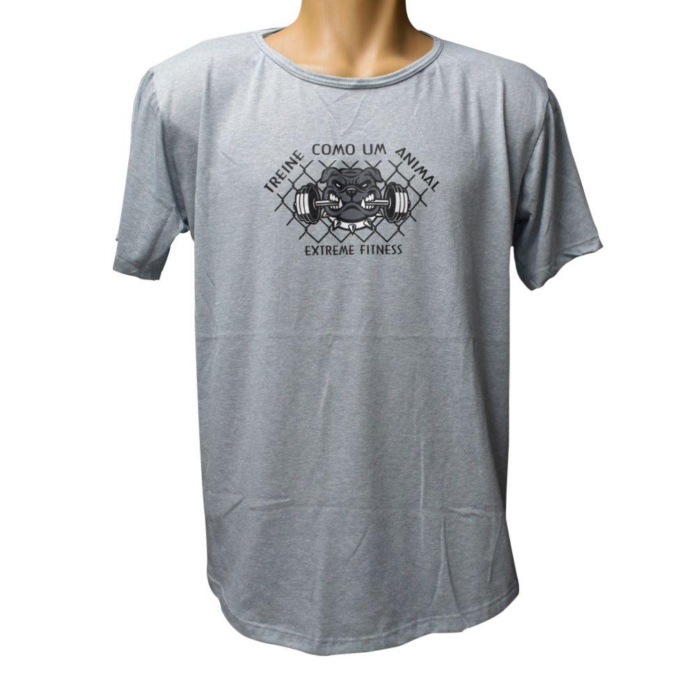 Camiseta Cinza Treine Como um Animal Extreme Fitness