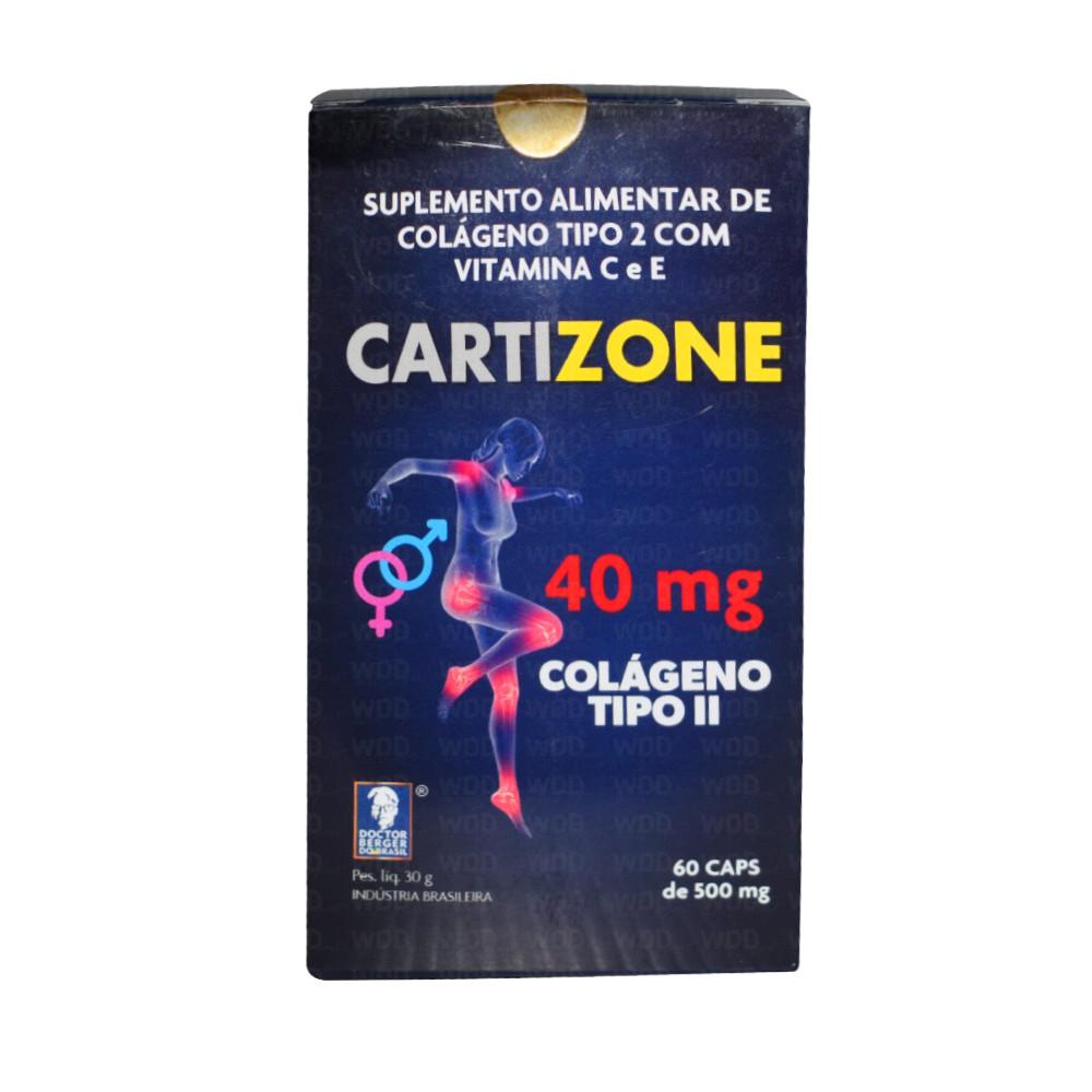 Cartizone Colágeno Tipo ll 40 mg 60 caps Doctor Berger do Brasil