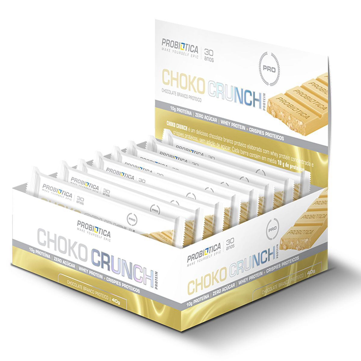 Choko Crunch Cx C/12 Barras de 40g Probiótica