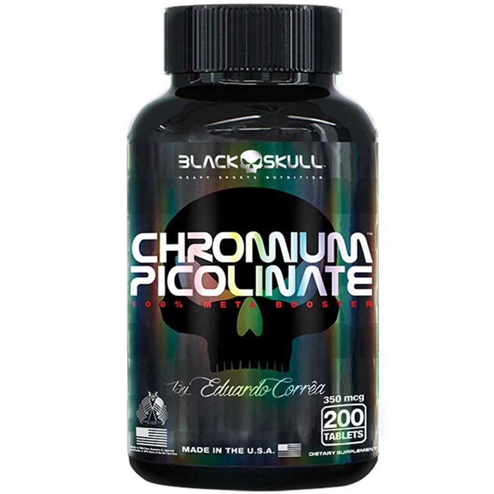 Chromium Picolinate 200tabs Black Skull