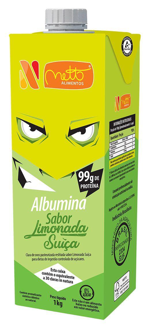 Clara de Ovo Pasteurizada Resfriada Limonada Suíça 1Kg Netto Alimentos 10 unidades