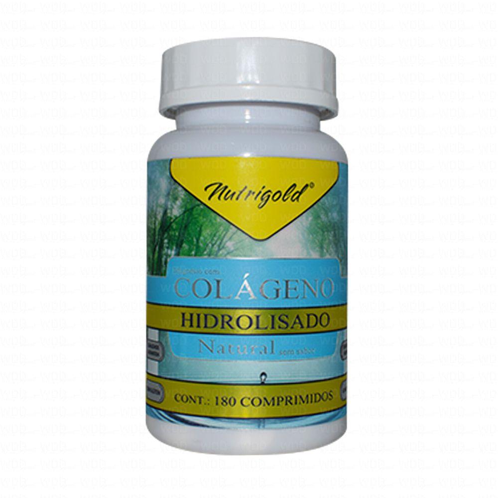 Colágeno Hidrolisado Natural 180 caps NutriGold