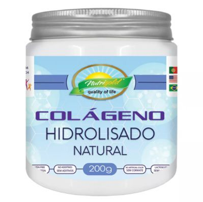 Colágeno Hidrolisado Natural 200g NutriGold