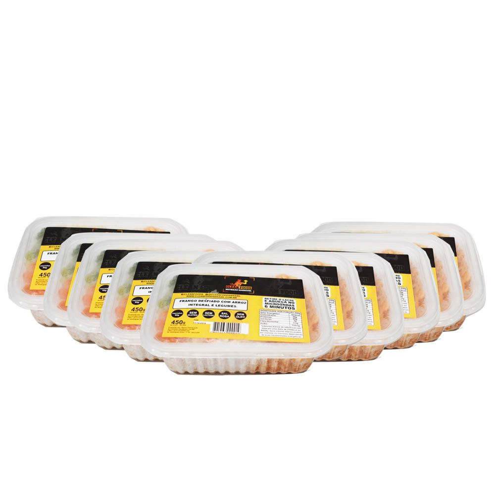 Combo 10 und Marmitas Congeladas 450g Clean Foods
