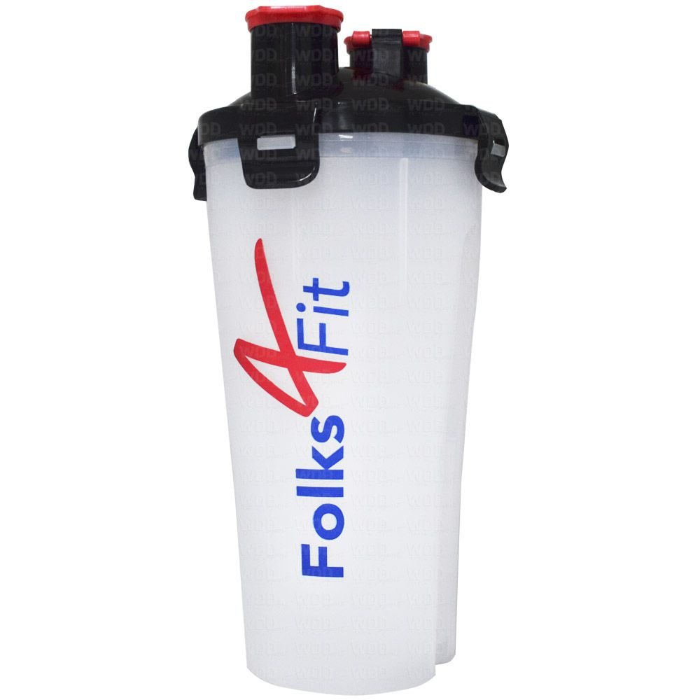 Coqueteleira de Plástico 700ml Folks 4 Fit