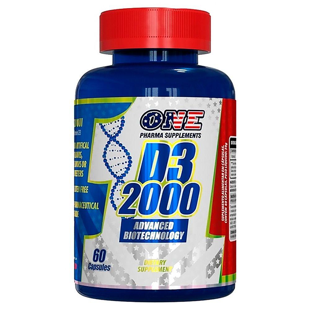 D3 2.000ui 60 Caps One Pharma Supplements