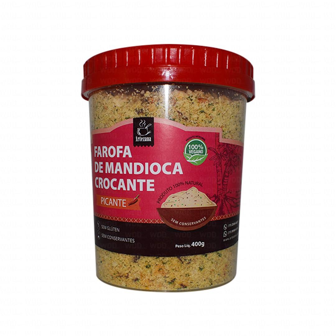 Farofa de Mandioca Crocante Gourmet Picante 400g Artezana
