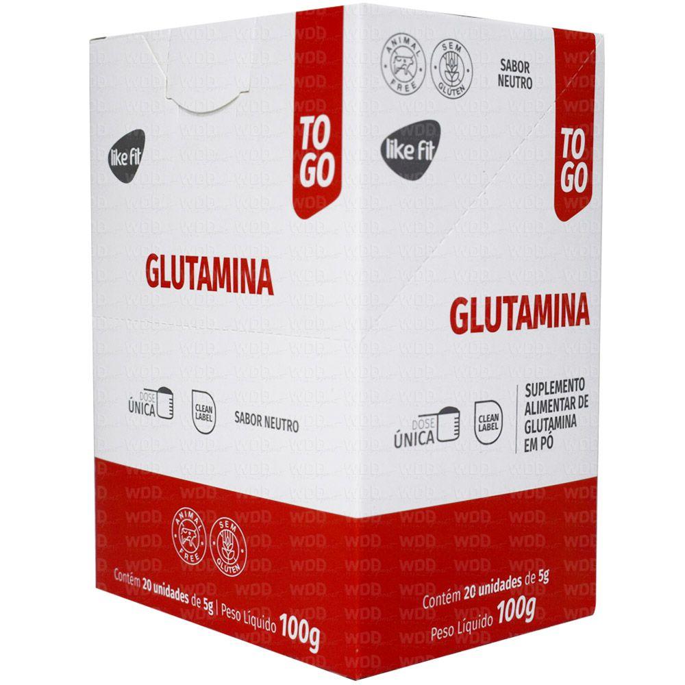 Glutamina To Go 20 sachês de 5g Like Fit