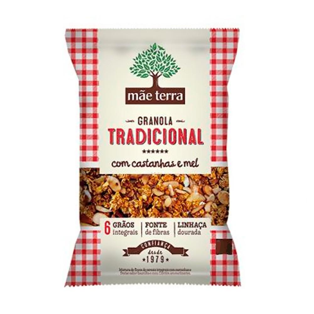 Granola Tradicional c/ Mel e Castanha 1Kg Mãe Terra
