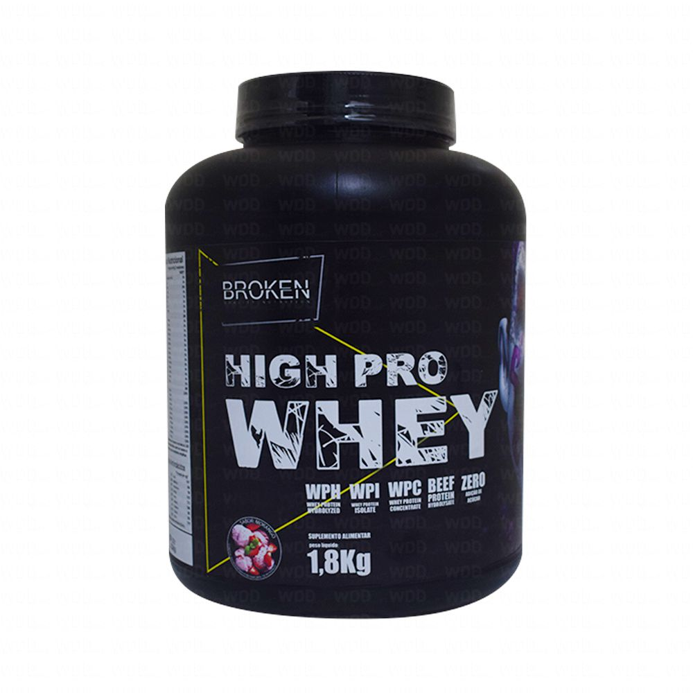 High Pro Whey 1,8kg  Broken Quality Nutrition
