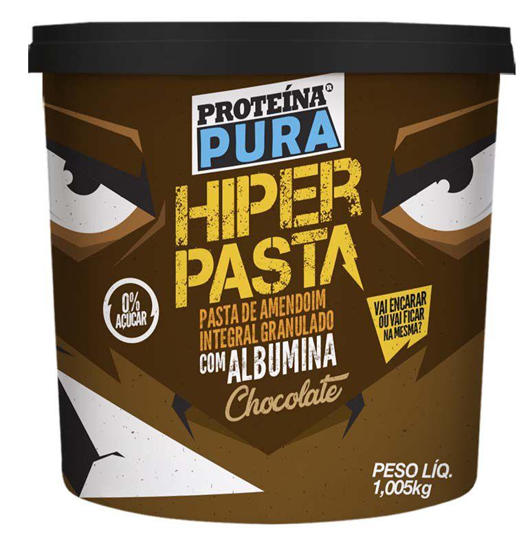 Hiper Pasta de Amendoim Com Albumina Chocolate 1,005kg Netto Alimentos
