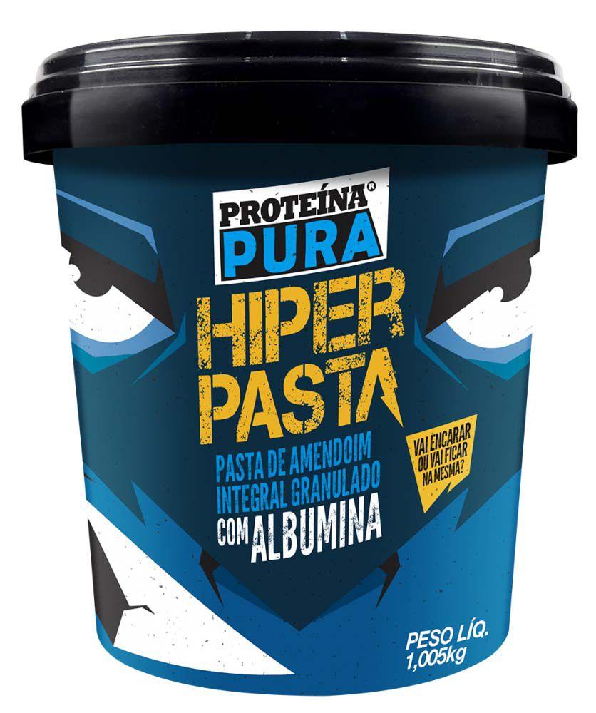 Hiper Pasta de Amendoim Integral Granulado com Albumina 1,005kg Netto Alimentos