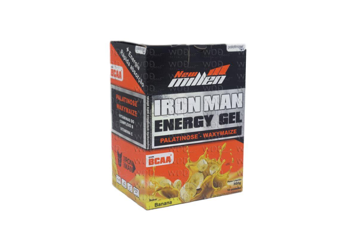 Iron Man Energy Gel Cx c/ 10 sachês New Millen