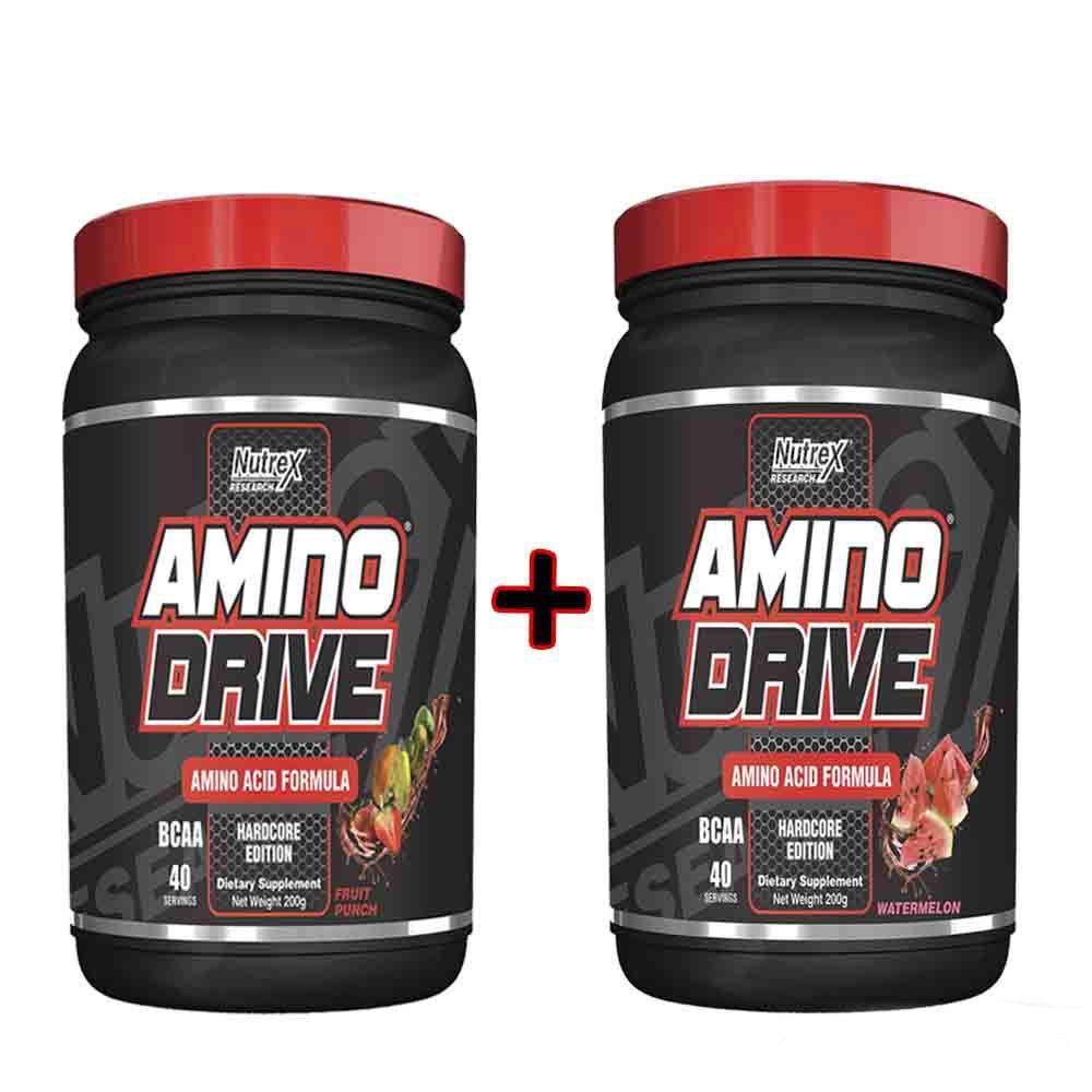 Kit  2 Amino Drive 200g Nutrex