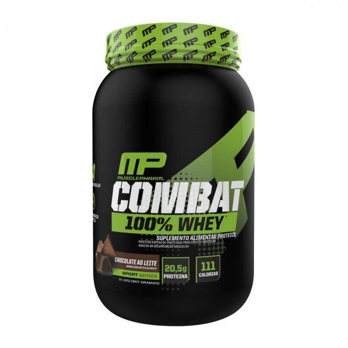 Kit Combat 100% Whey + Coqueteleira GRÁTIS