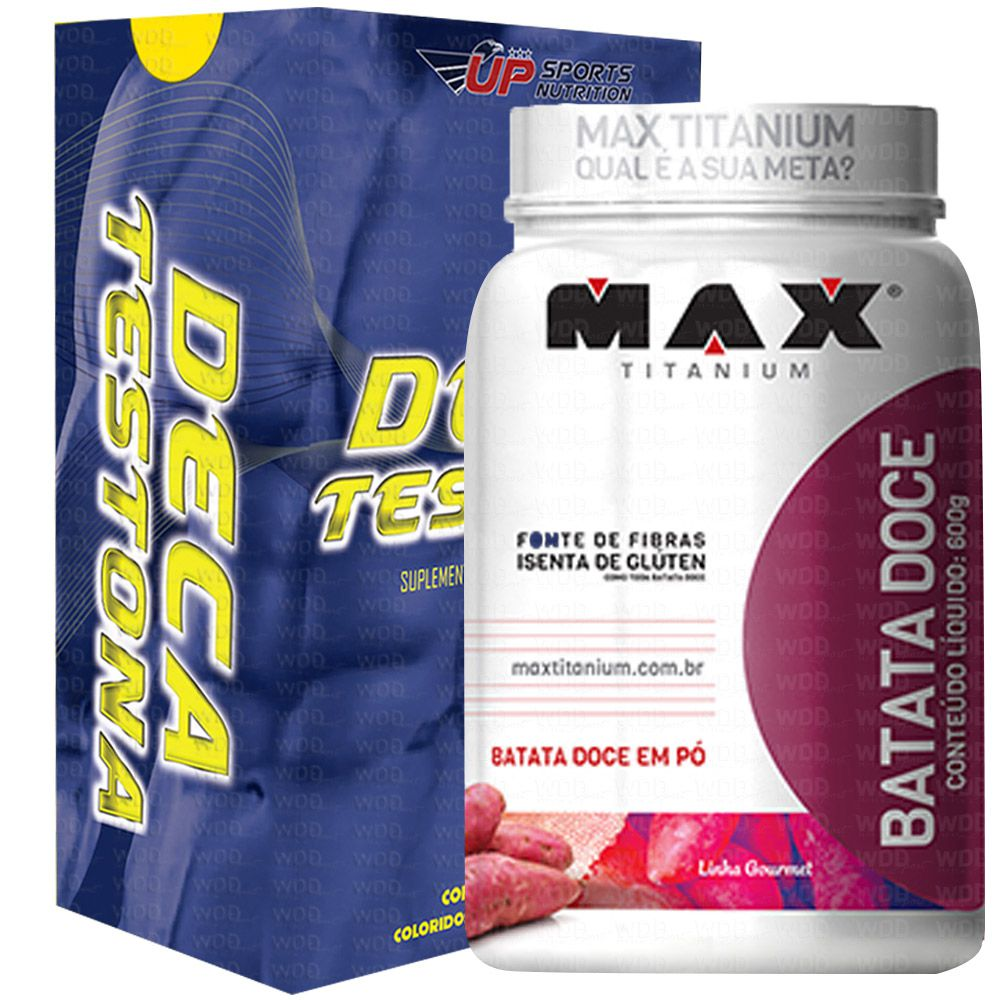 Kit Deca Testona 60caps Up Sports Nutrition + Batata Doce em Pó 600g Max Titanium