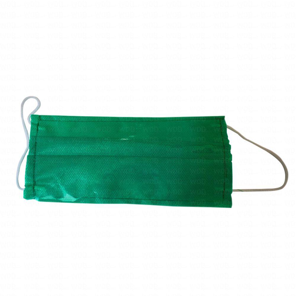 Kit Máscara Lavável Verde 10 unidades