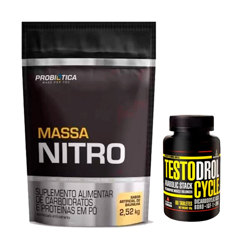 KIT Massa Nitro 2,5kg + Testodrol Cycle 60 Tabs