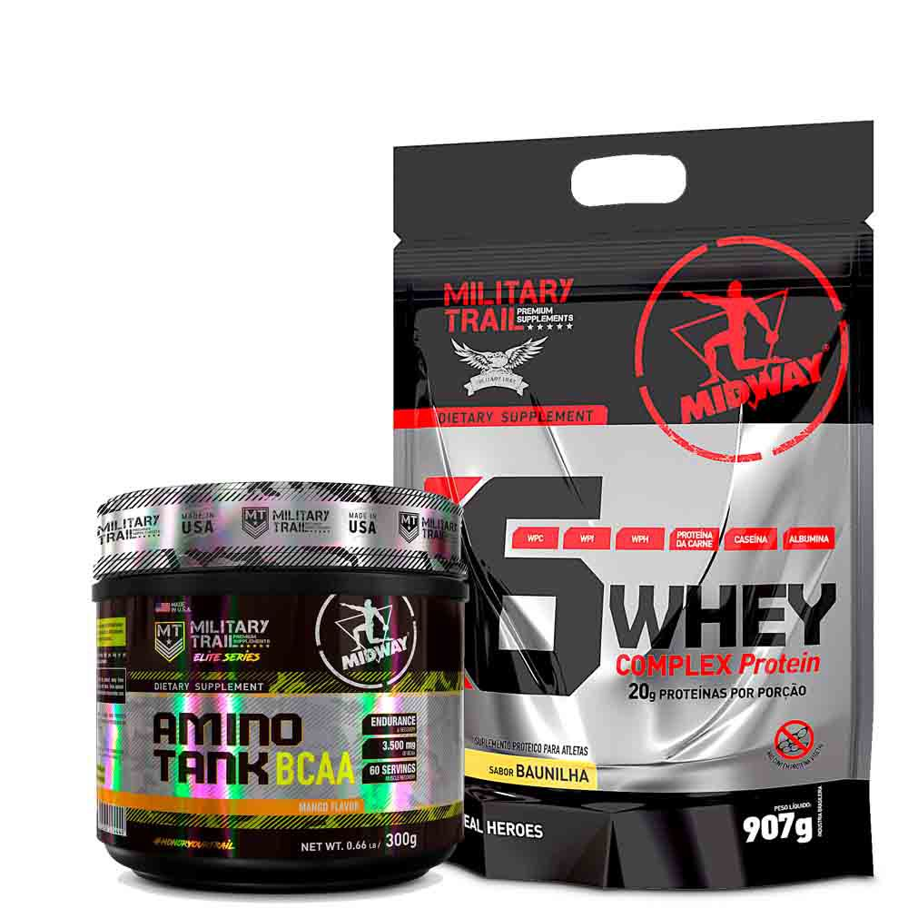 Kit War 6 Whey Complex Protein 1,8kg + Amino Tank 300g  Midway