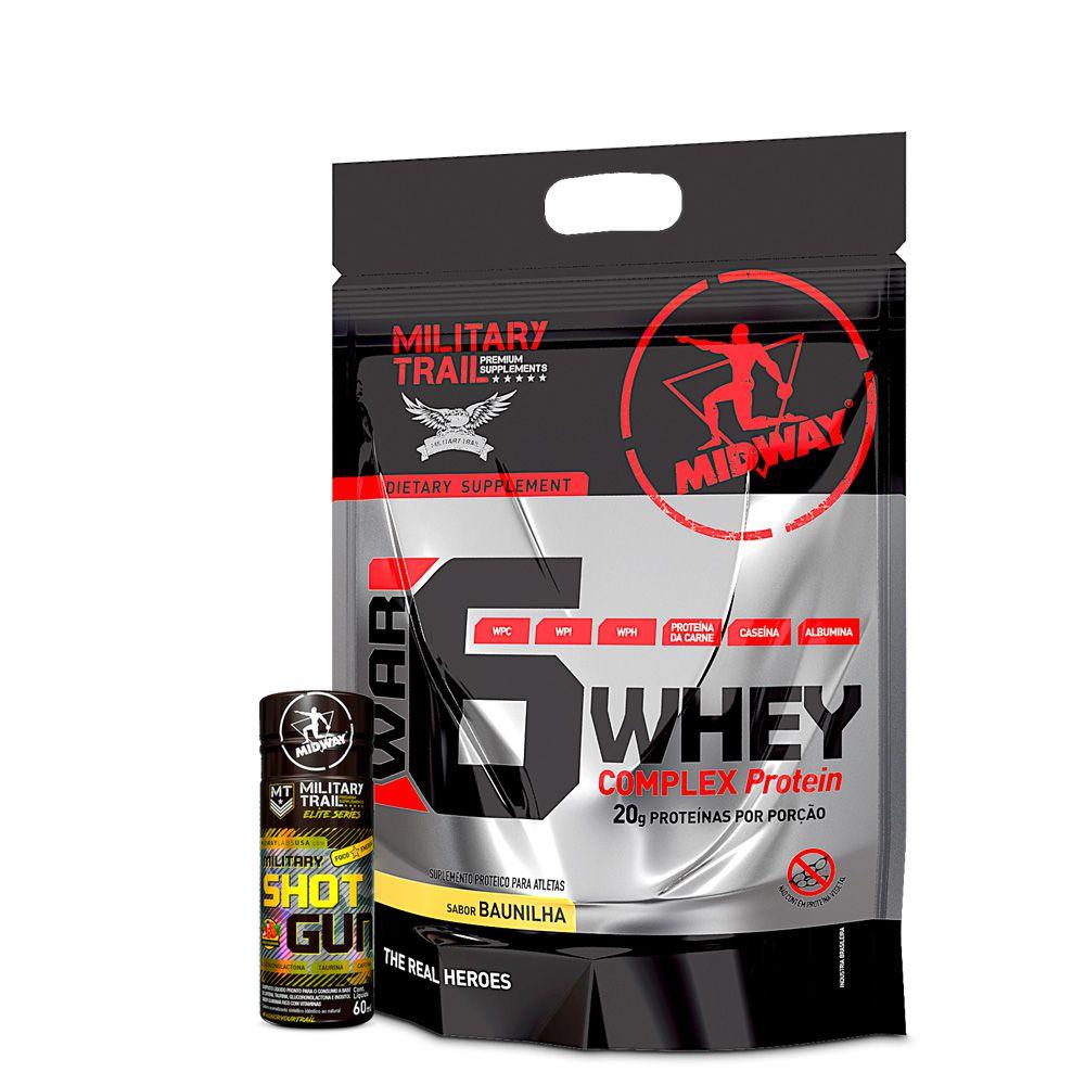 Kit War 6 Whey Complex Protein 1,8kg + Shot Gun 60ml  Midway