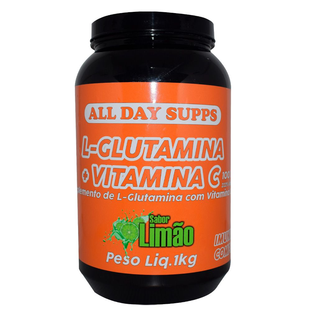 L-Glutamina + Vitamina C 1Kg All Day Supps