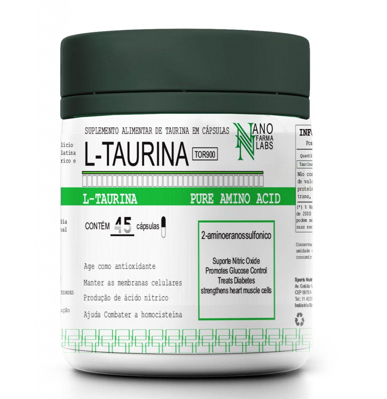L-Taurina 45 caps Nano Farma Labs
