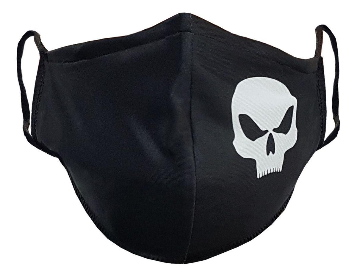Máscara De Proteção Esportiva Black Skull
