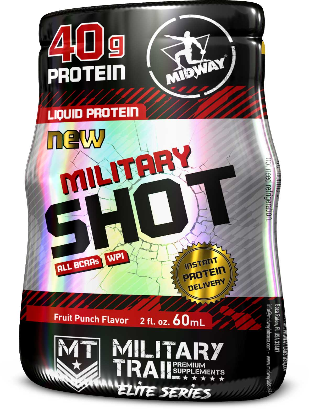 Military Shot 1 un de 60ml MidWay