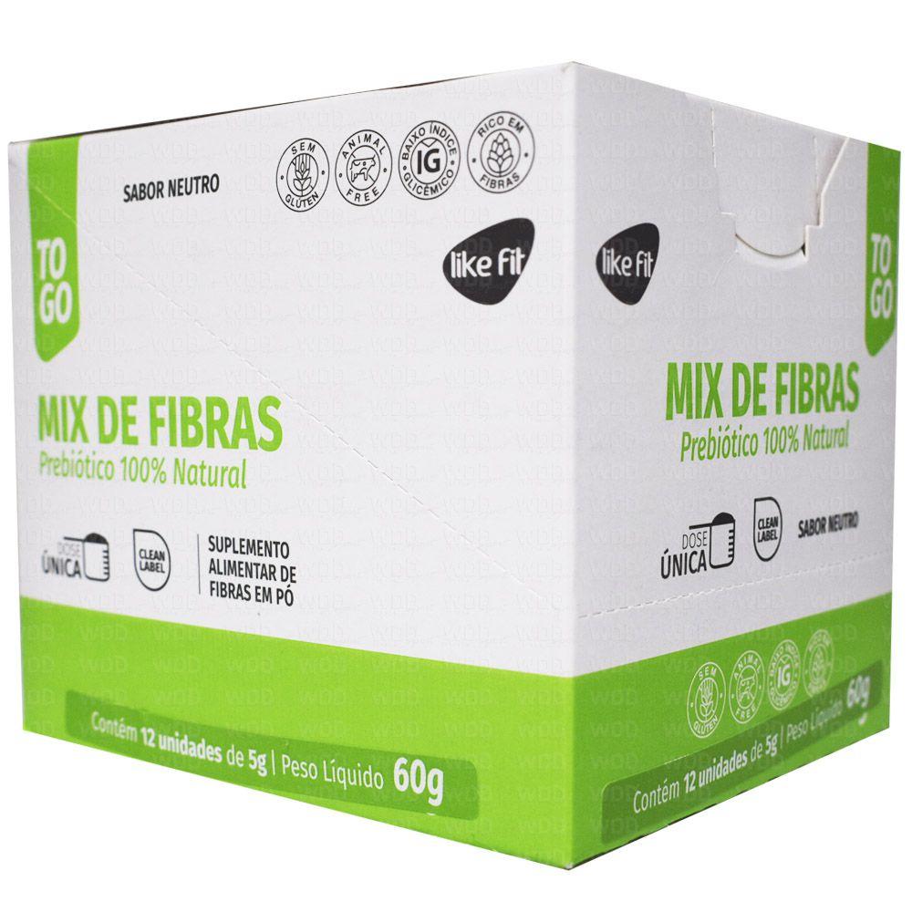 Mix de Fibras Prebiótico 100% Natural 12 Und. De 5g Cada  Like Fit