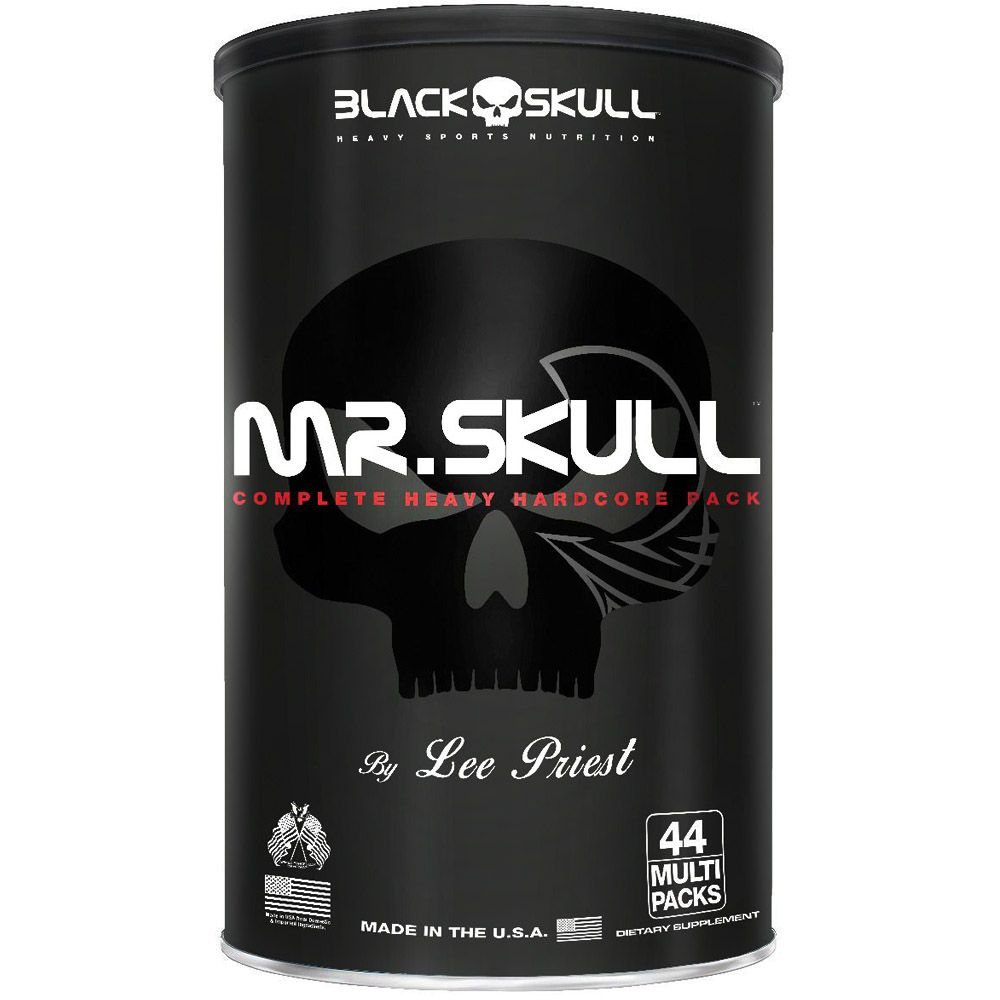 Mr Skull 44 packs Black Skull