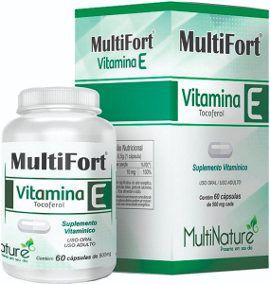 MultiFort Vitamina E 60caps de 500mg cada MultiNature